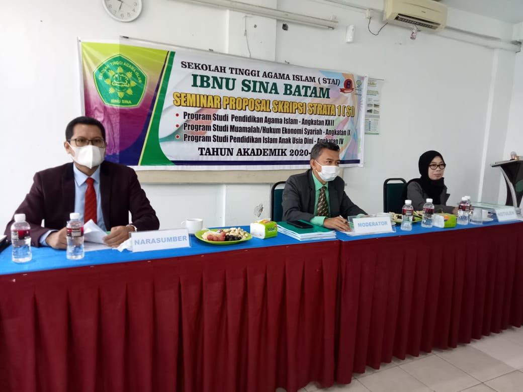 Pelaksanaan Seminar Proposal Skripsi TH. 2020/2021